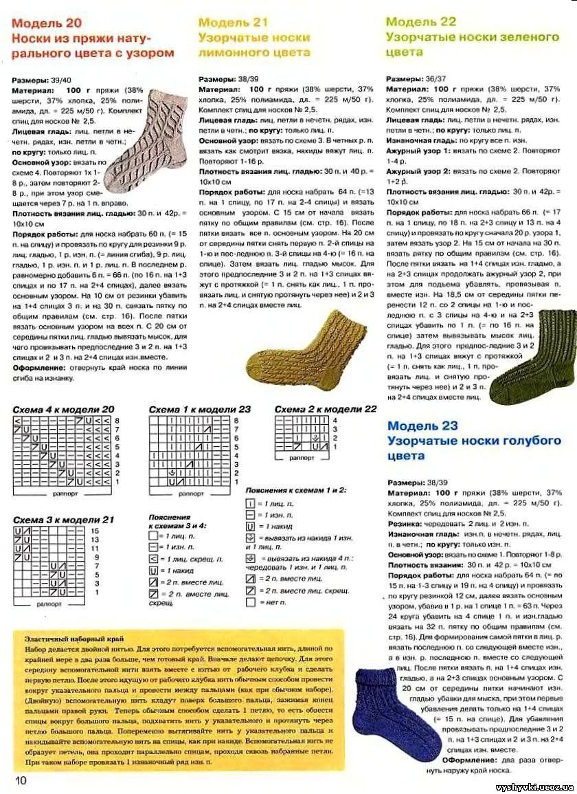 Вязание носков крючком схема размеры
