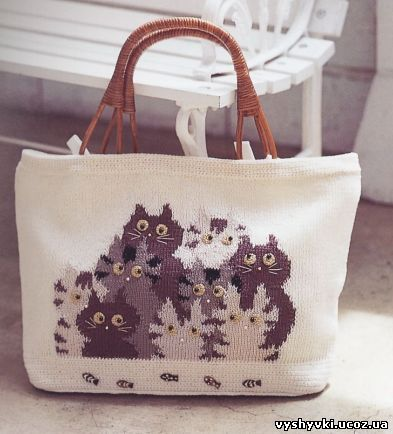 сумка Вязания сумка с кошками