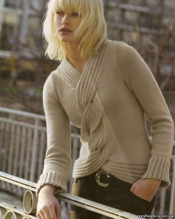 Вязание. Спицы. Пуловер.