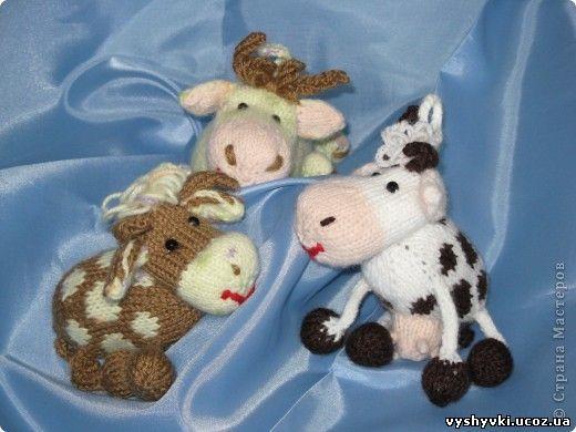 Вязаные коровы схемы