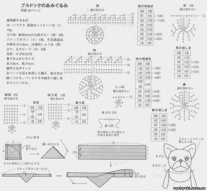 Бульдог схема вязания