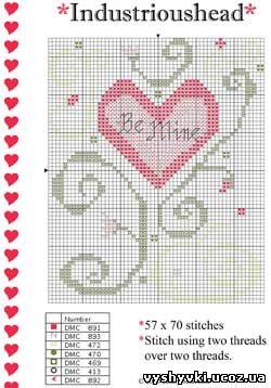 Схема вышивки «Ко дню Святого Валентина»