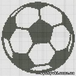 Футбол схемы вышивки