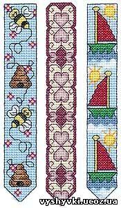 Вышивка крестом схемы бесплатно закладка для книг