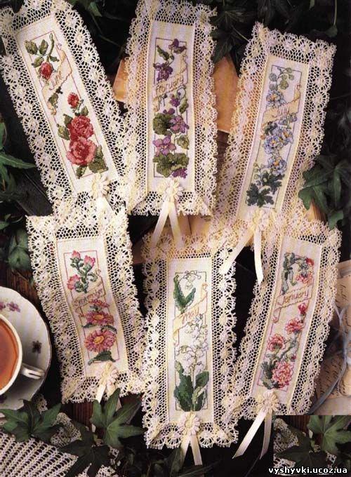 Закладки для книг - цветы