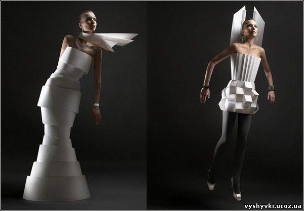 необычные платья из бумаги