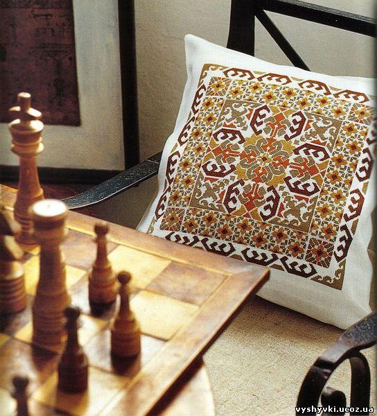 Схемы вышивок крестом в коричневых тонах
