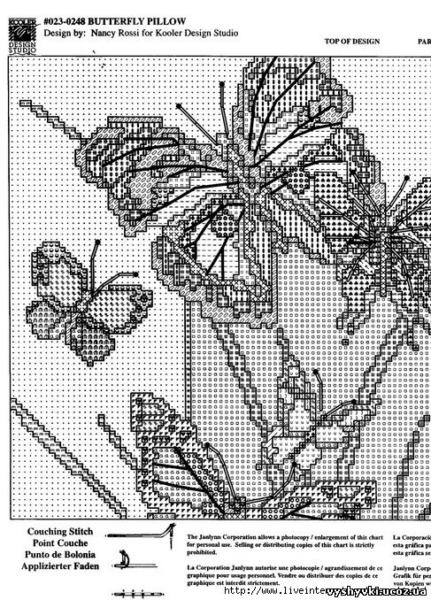 Подушка с бабочками