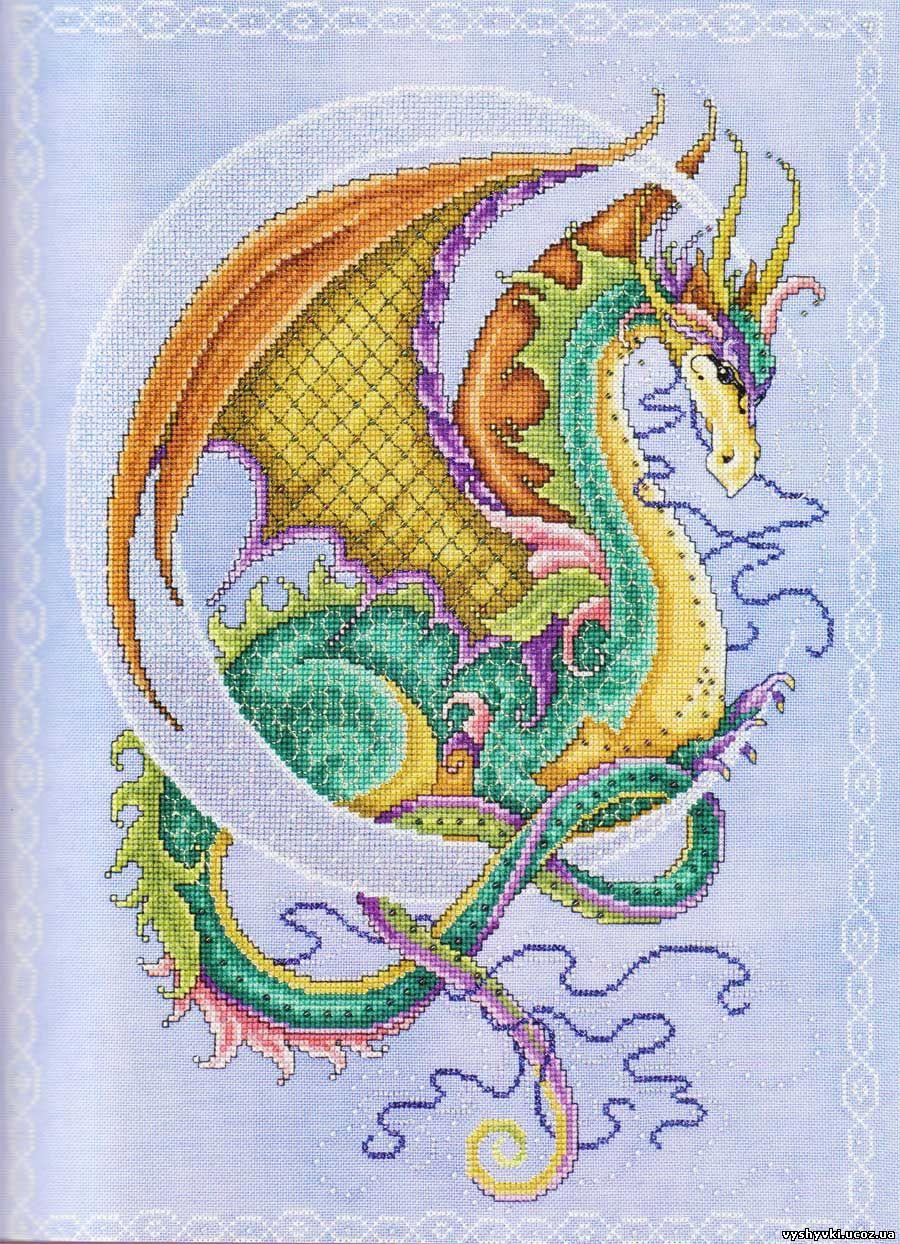 Вышивка схема дракона бесплатно