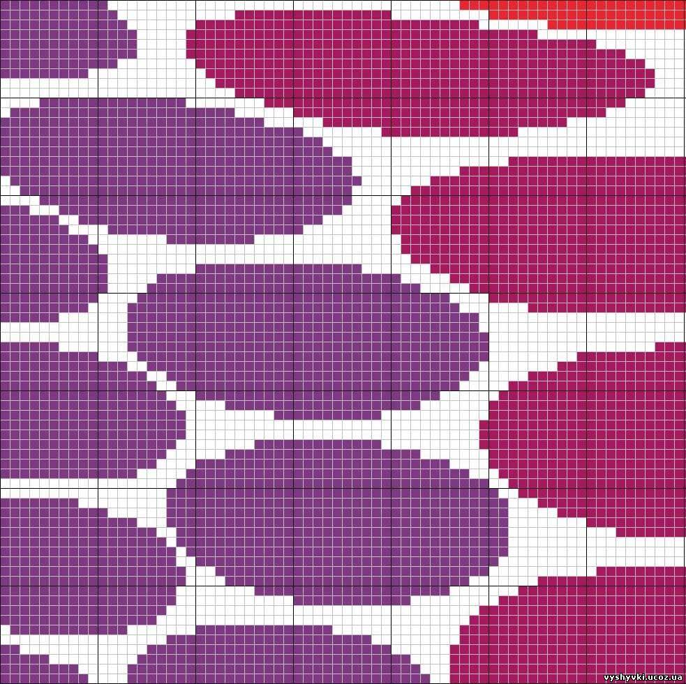 Цветная вышивка на белом 207