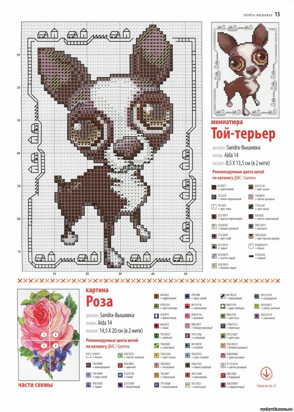 Схемы вышивки крестом собаки монохром