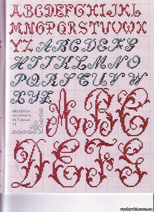 Латинская буква i вышивка
