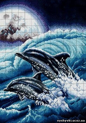 Дельфин вышивки крестом схемы бесплатно