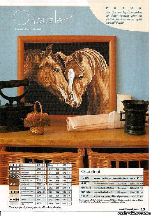 Лошади. Вышивка
