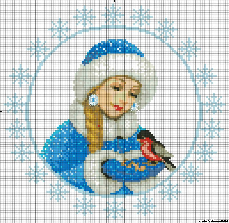 Милая схема снегурочки