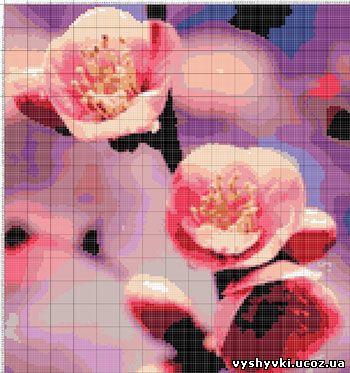 Весенние цветы Вышивка