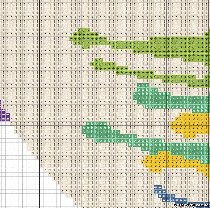 Схема вышивки редкие схемы 92