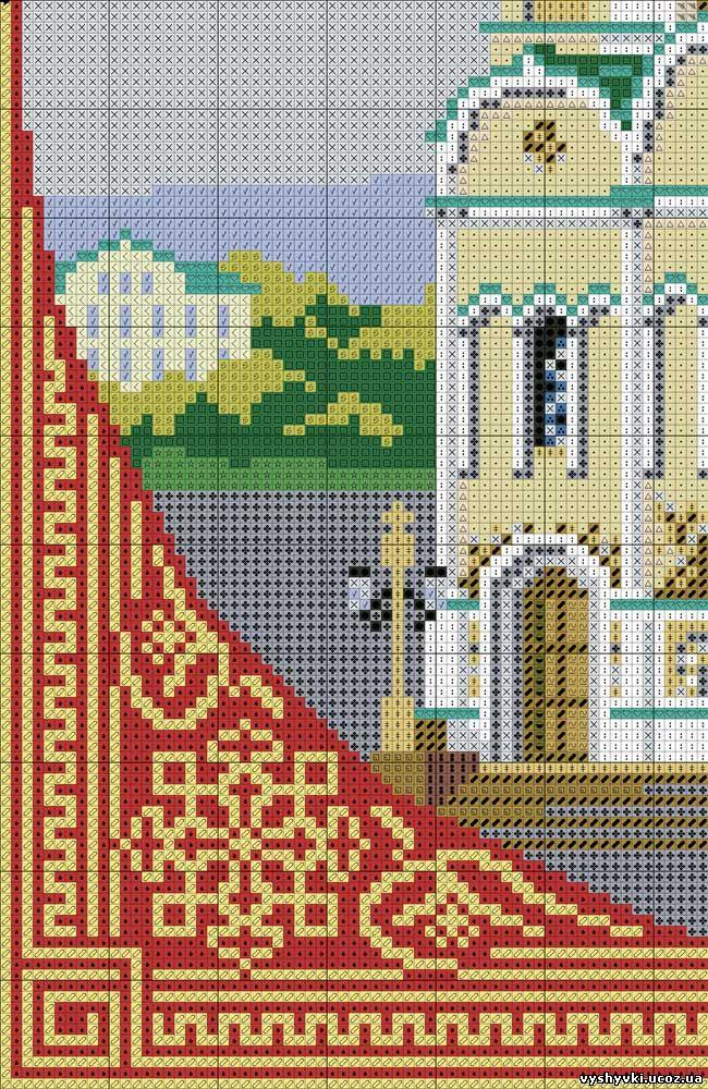 Вышивка схемы крестом церковь 53