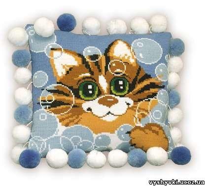 Кот - детская подушка