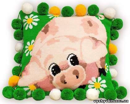 Свинка - детская подушка