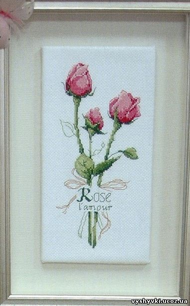 Вышивка крестиком розы