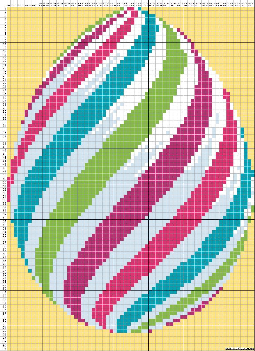 Вышивка пасхального яйца крестом