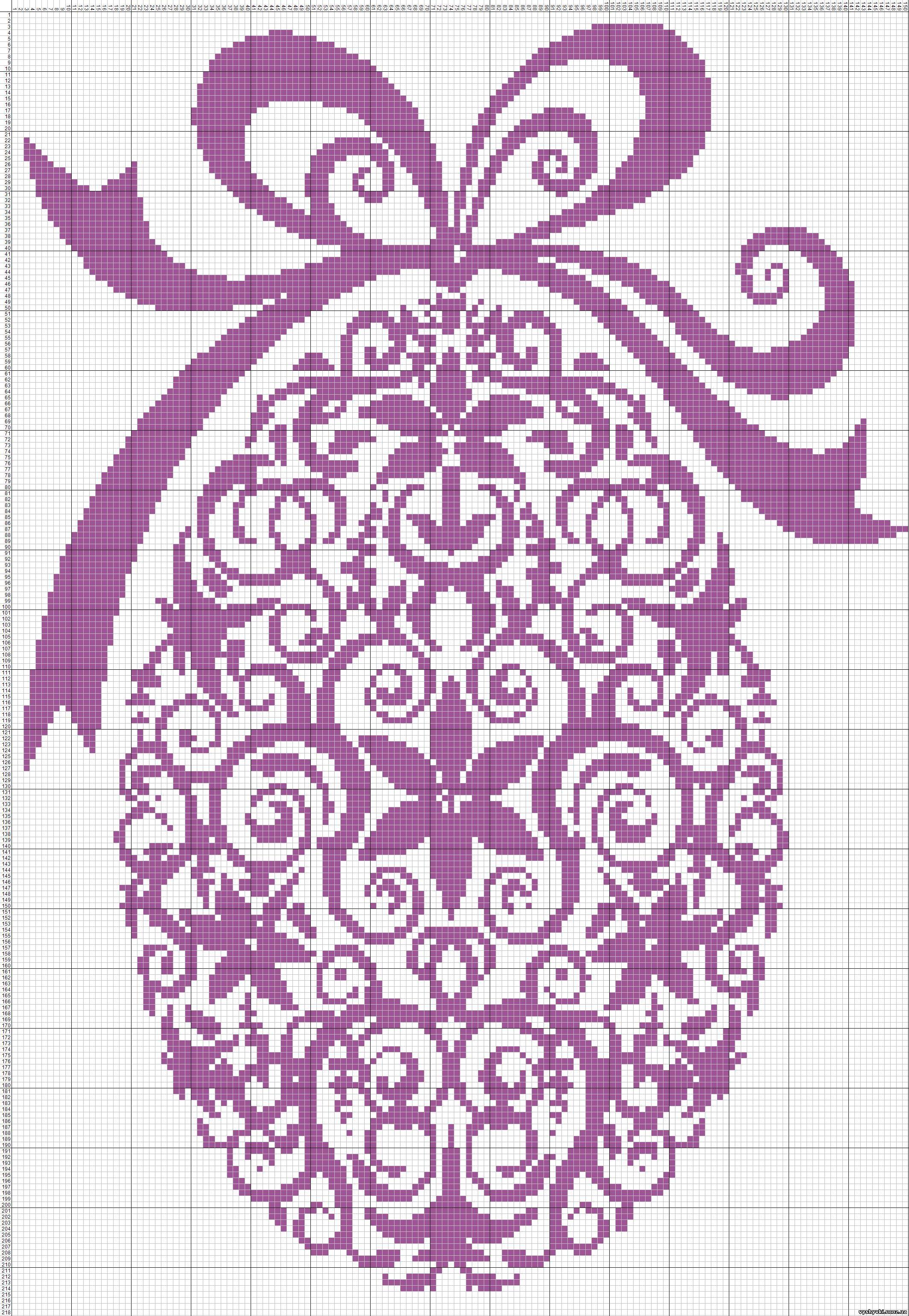 схема вышивки крестом новогодней елки