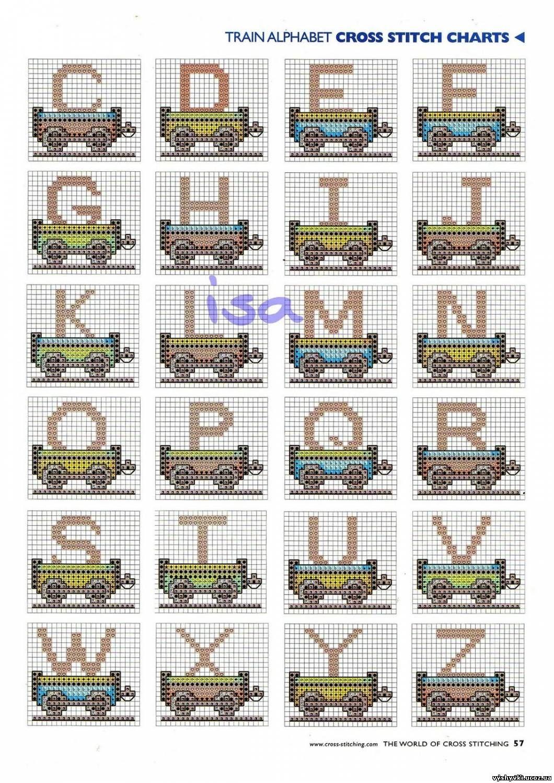 схема вишивки английского алфавита