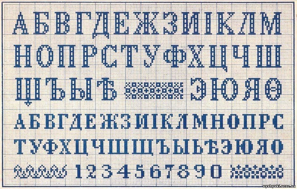 Вышивка русского алфавита