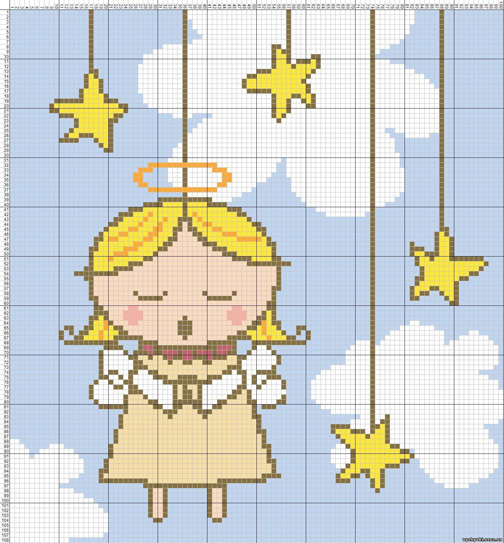 Схема вышивки крестом: ангелы скачать бесплатно Надо 84