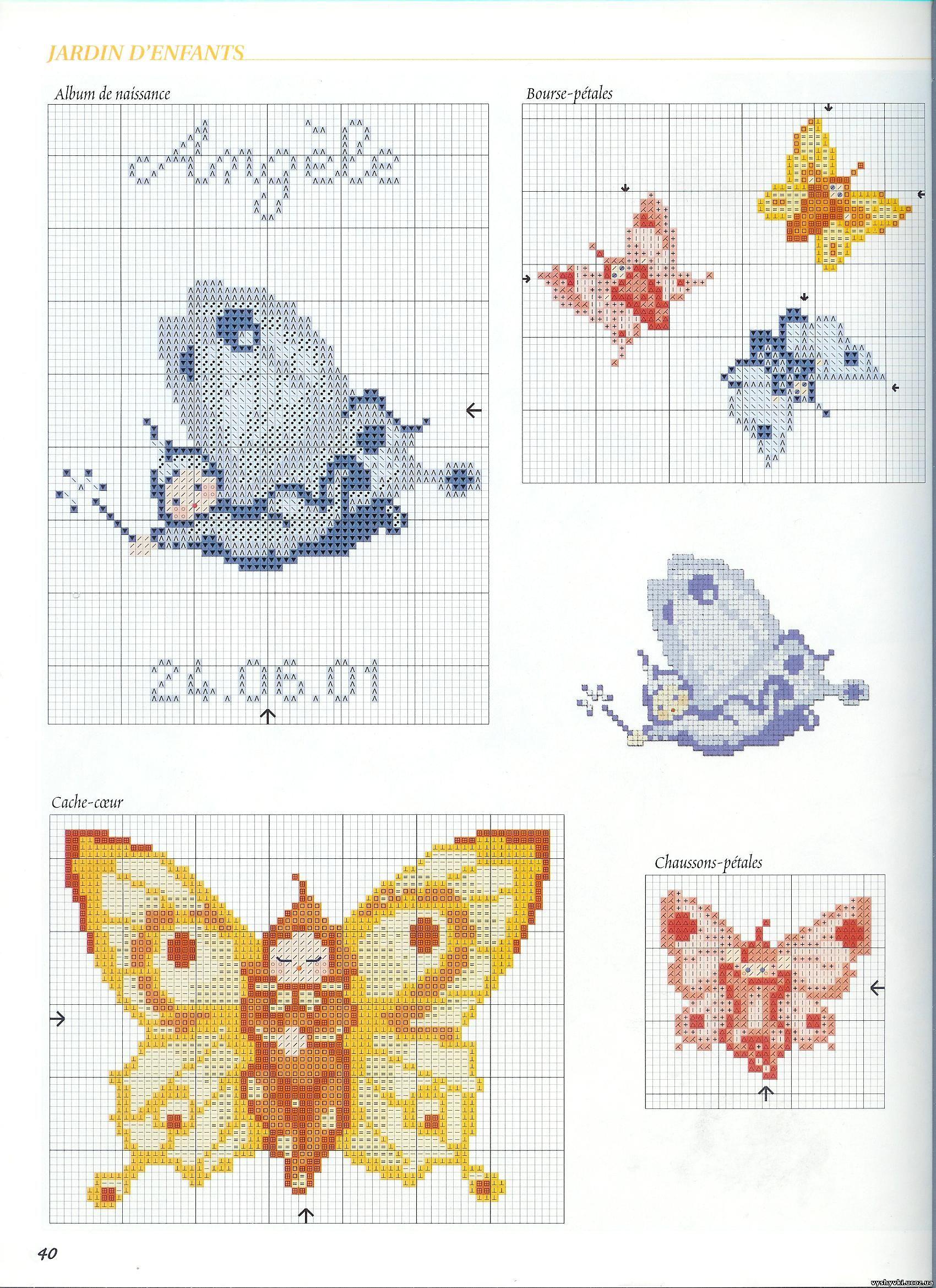 Вышивка бабочки простая