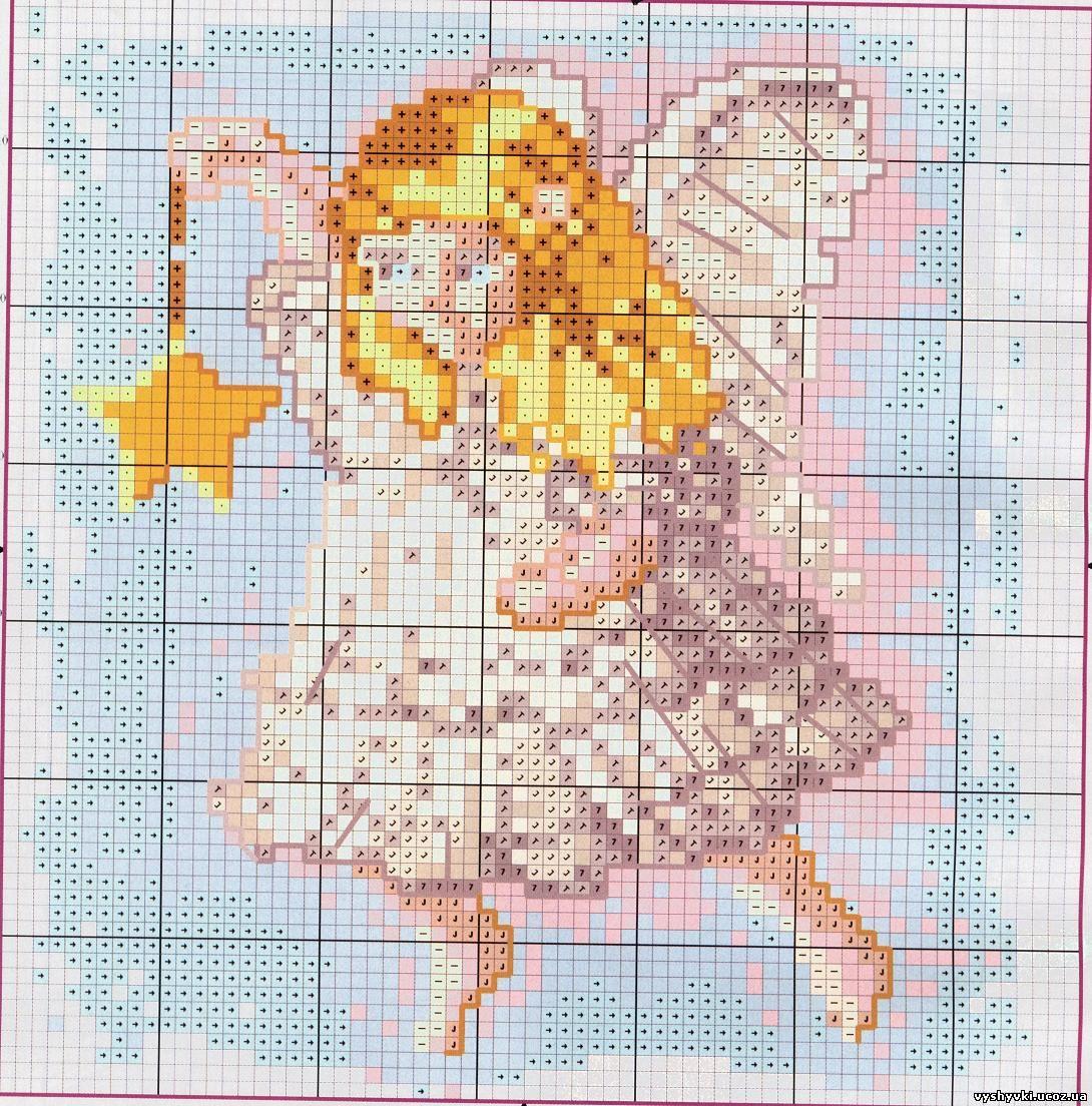 3 ангелочка схема вышивки фото 799