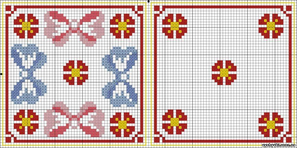 Вышивка бискорню крестиком