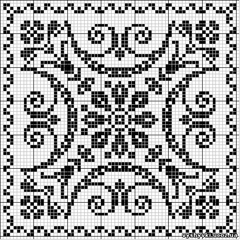 Вышивка крестом черно-белые схемы городов