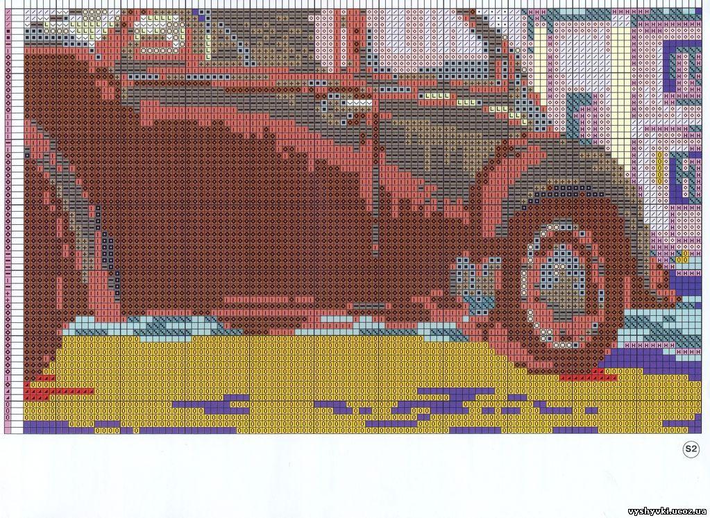 Вышивка старая фотография. жук схема