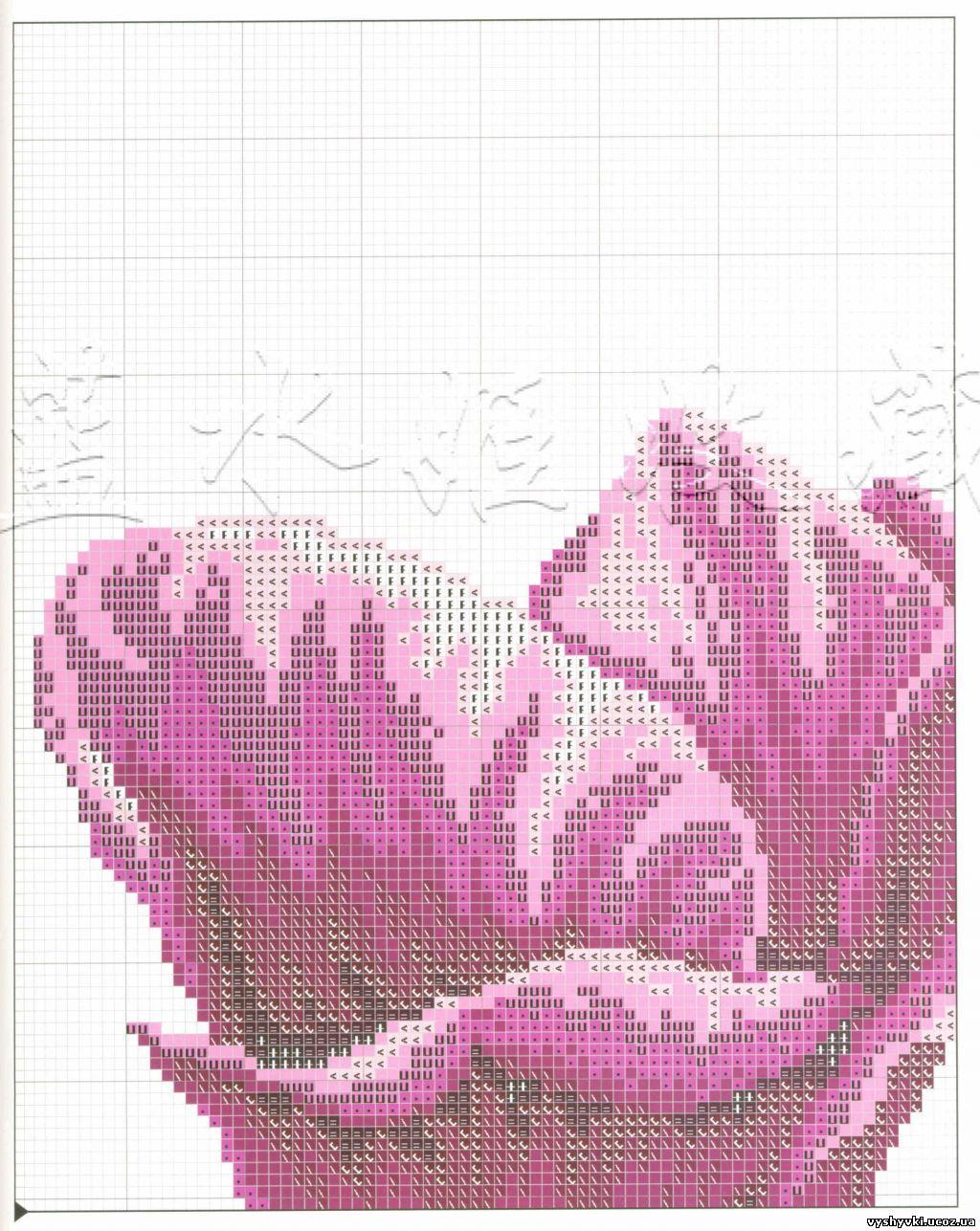 Вышивка тюльпаны