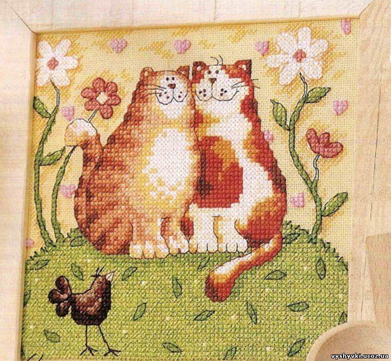 """Вышивка крестом-""""Кошачьи"""