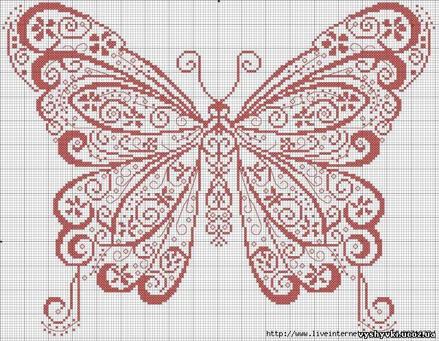 Одноцветная бабочка
