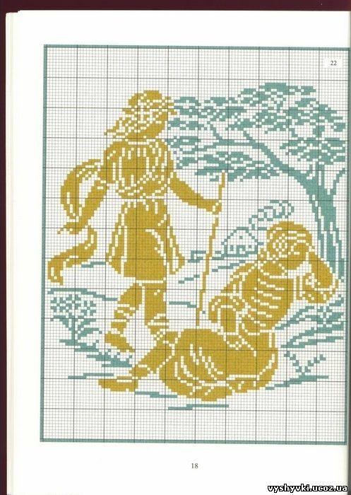 Вышивка крестиком схема малыша