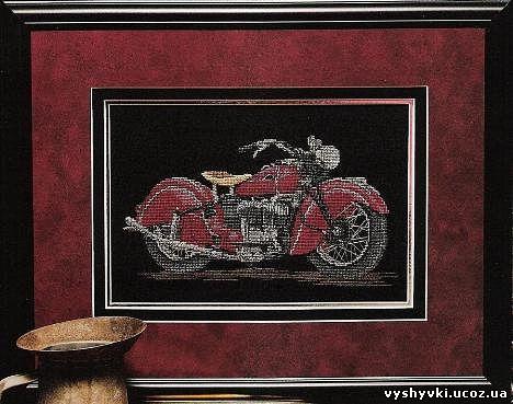 Вышивка мотоцикла. мотоцикл
