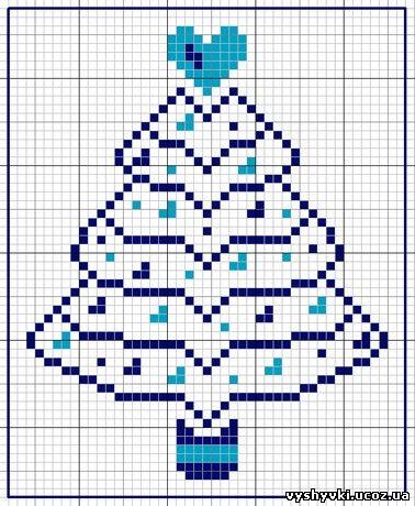 Елочка - вышивка к Новому году
