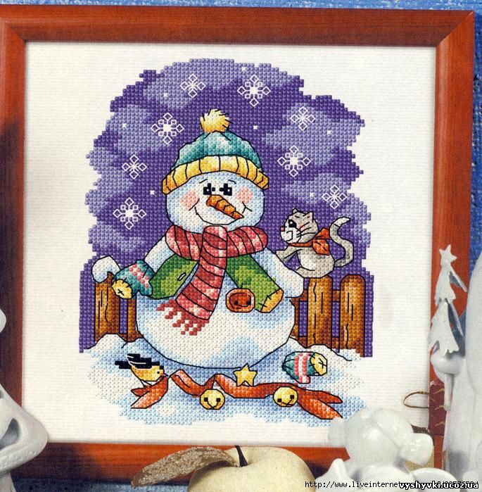 Снеговик с котиком