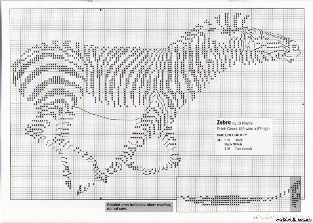 Вышивка Бегущая зебра