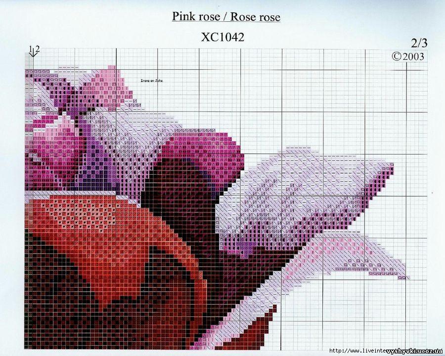 Цветы вышивка крестиком