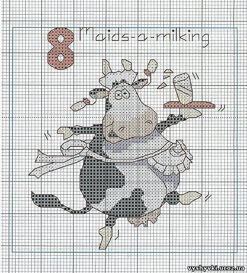 Вышивка коровы