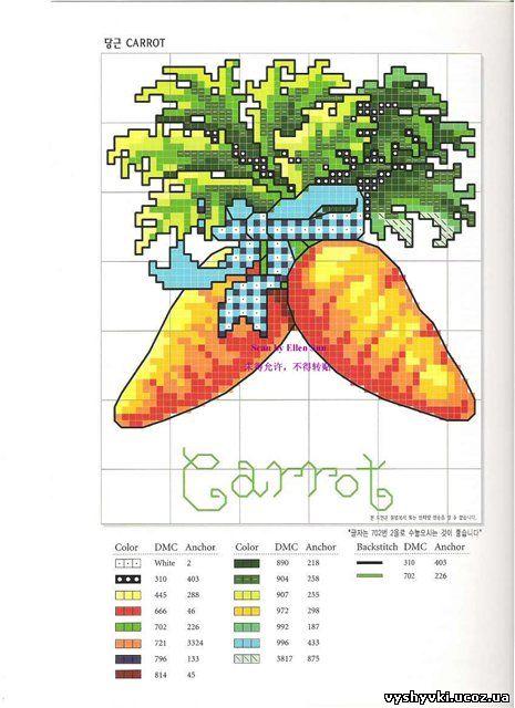 вышивка морковки