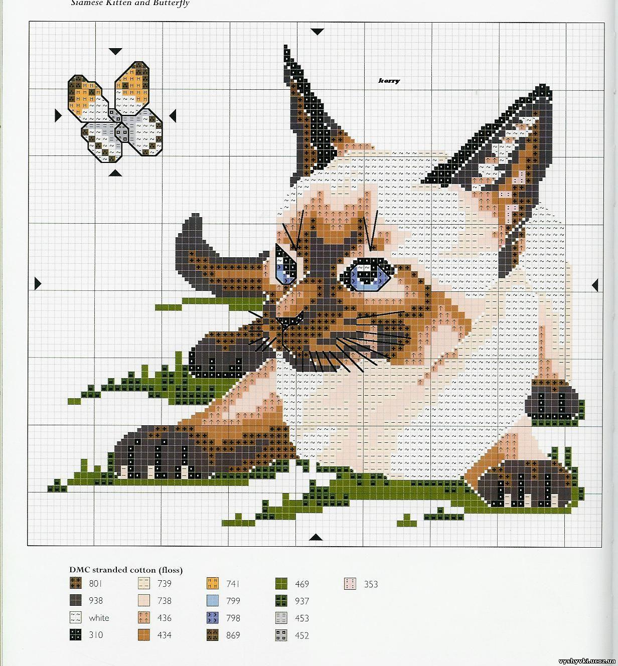 вязание-спицы схемы-кошки